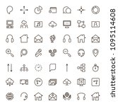 seo icon set. collection of...   Shutterstock .eps vector #1095114608