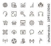 seo icon set. collection of...   Shutterstock .eps vector #1095115040