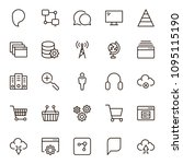 seo icon set. collection of...   Shutterstock .eps vector #1095115190