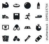 set of simple vector isolated... | Shutterstock .eps vector #1095115754
