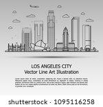 line art vector illustration of ... | Shutterstock .eps vector #1095116258