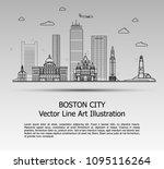 line art vector illustration of ... | Shutterstock .eps vector #1095116264