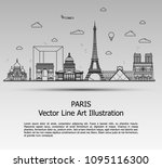 line art vector illustration of ... | Shutterstock .eps vector #1095116300