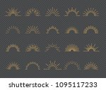 vector sunburst set gold style... | Shutterstock .eps vector #1095117233
