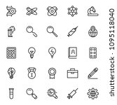 science icon set. collection of ... | Shutterstock .eps vector #1095118040