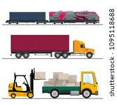 set of overland freight... | Shutterstock .eps vector #1095118688