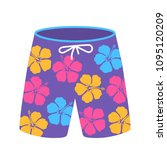 beach or sports men's shorts ... | Shutterstock .eps vector #1095120209