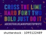 line condensed alphabet and... | Shutterstock .eps vector #1095122489