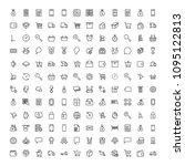 e commerce flat icon set .... | Shutterstock .eps vector #1095122813