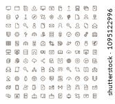 data exchange icon set.... | Shutterstock .eps vector #1095122996