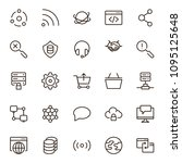 seo icon set. collection of...   Shutterstock .eps vector #1095125648