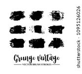 set of black brush stroke and... | Shutterstock .eps vector #1095126026