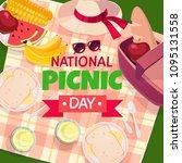 vector summer picnic...   Shutterstock .eps vector #1095131558