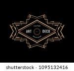 art deco vintage badge logo... | Shutterstock .eps vector #1095132416