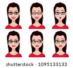 face expressions of sexy... | Shutterstock .eps vector #1095133133