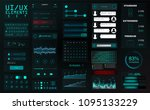 modern mobile ui kit for app... | Shutterstock .eps vector #1095133229