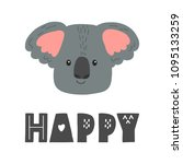 koala vector cartoon... | Shutterstock .eps vector #1095133259