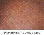 Red Orange Bricks Tiled Floor...
