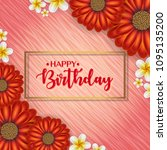 birthday card with frame... | Shutterstock .eps vector #1095135200