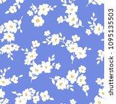 flower illustration pattern  i ... | Shutterstock .eps vector #1095135503