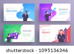 presentation slide templates or ... | Shutterstock .eps vector #1095136346