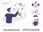 set of business concept... | Shutterstock .eps vector #1095136349
