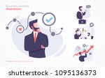 set of business concept... | Shutterstock .eps vector #1095136373