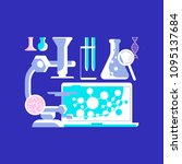 medical science icons on bright ... | Shutterstock .eps vector #1095137684
