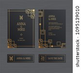 luxury wedding invitation or...   Shutterstock .eps vector #1095139010