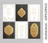 luxury wedding invitation or... | Shutterstock .eps vector #1095139013