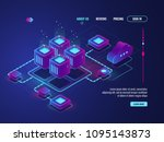 isometric networking conncetion ... | Shutterstock .eps vector #1095143873