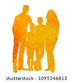 watercolor silhouette family... | Shutterstock .eps vector #1095146813