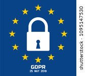 gdpr   general data protection... | Shutterstock .eps vector #1095147530