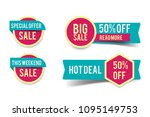 sale round banner set  circle... | Shutterstock .eps vector #1095149753