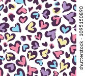 Heart Leopard Repeat Pattern