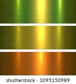 metal textures green and gold... | Shutterstock .eps vector #1095150989