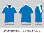 polo shirt design  front back...   Shutterstock .eps vector #1095157178