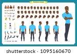 black american hipster creation ... | Shutterstock .eps vector #1095160670