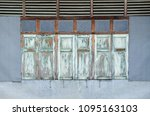 old vintage retro style wood... | Shutterstock . vector #1095163103