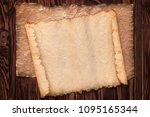 old paper on a table ... | Shutterstock . vector #1095165344