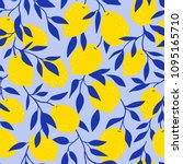 tropical seamless pattern with... | Shutterstock .eps vector #1095165710