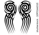 tribal tattoos  pattern art...   Shutterstock .eps vector #1095166310