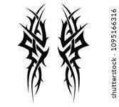 tribal symmetric pattern... | Shutterstock .eps vector #1095166316