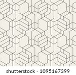 abstract geometric pattern with ... | Shutterstock .eps vector #1095167399