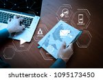 digital marketing media ... | Shutterstock . vector #1095173450
