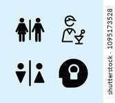 filled set of 4 people icons...   Shutterstock .eps vector #1095173528