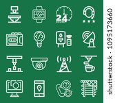 outline set of 16 technology... | Shutterstock .eps vector #1095173660