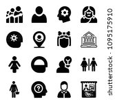 filled set of 16 people icons... | Shutterstock .eps vector #1095175910