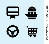 filled set of 4 tool icons such ... | Shutterstock .eps vector #1095176060