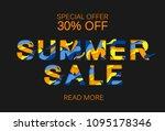 paper cut layout sale concept.  ... | Shutterstock . vector #1095178346